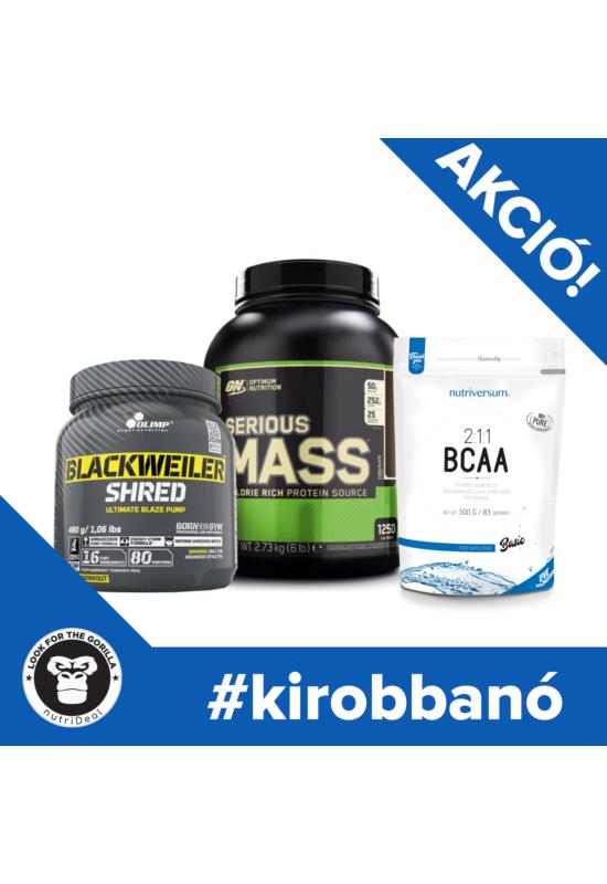 #kirobbanó - ON Serious Mass + 2:1:1 BCAA - BASIC - Nutriversum - Olimp Blackweiler Shred