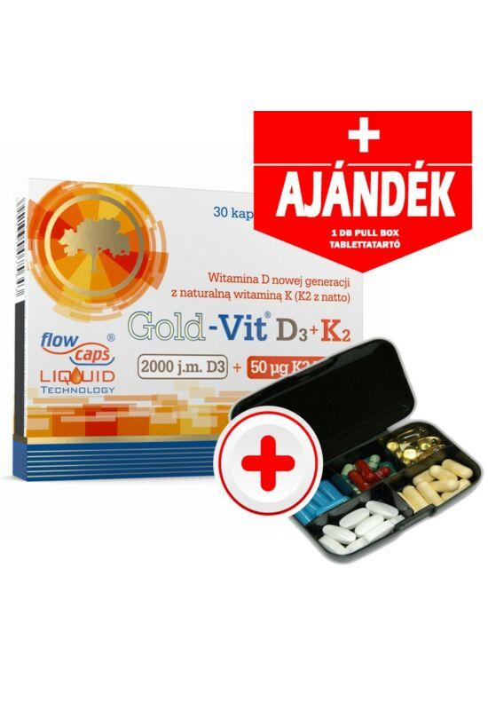Olimp Gold-Vit D3+K2 vitamin 30 kapszula + AJÁNDÉK Olimp Pull Box